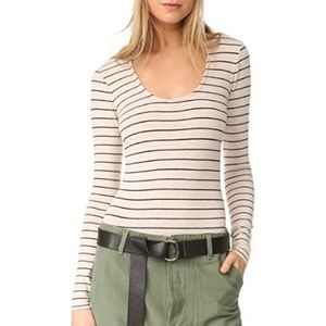 MADEWELL Stevie Striped Bodysuit